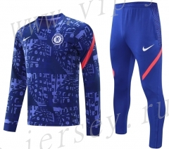 2020-2021 Chelsea Blue  Thailand Soccer Tracksuit-418