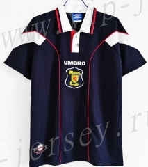 Retro Version 96-98 Scotland Home Black Thailand Soccer Jersey AAA