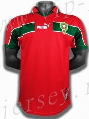 Retro Version 1998 Morocco  Red Thailand Soccer Jersey AAA-c1046