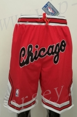 Chicago Bulls Red NBA Shorts