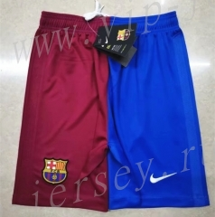 2021-2022 Barcelona Home Red&Blue Thailand Soccer Shorts
