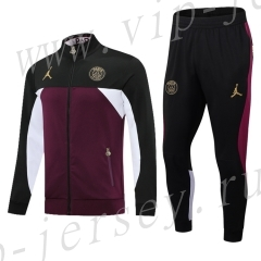 2021-2022 Jordan Paris SG Black&Purple Thailand Soccer Jacket Unifrom-411