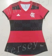2021-2022 Flamengo Home Red&Black Thailand Women Soccer Jersey AAA