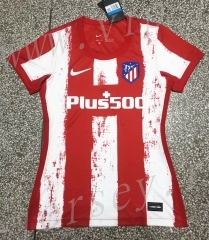 2021-2022 Atlético Madrid Home Red&White Thailand Women Soccer Jersey AAA