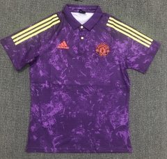 2021-2022 Manchester United Purple Thailand Polo Shirt-803