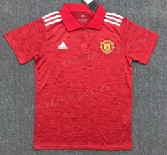 2021-2022 Manchester United Red Thailand Polo Shirt-803