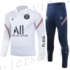 2021-2022 Paris SG White Kids/Youth Tracksuit-815