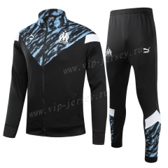 2021-2022 Olympique Marseille Black Kids/Youth Thailand Soccer Jacket Uniform-GDP