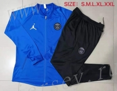 2021-2022 Jordan Paris SG Colour Blue Thailand Soccer Jacket Unifrom-815