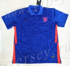 2021-2022 England Away Blue Thailand Polo Shirt-402