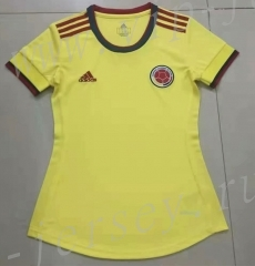 2021-2022 Colombia Home Yellow Women Thailand Soccer Jersey AAA