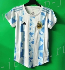 2021-2022 Argentina Home Blue&White Women Thailand Soccer Jersey AAA-802