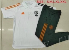 2021-2022 Manchester United White Polo Uniform-815