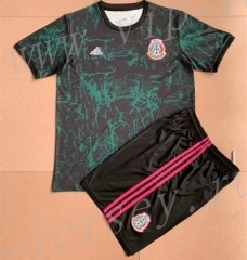 2021-2022 Mexico Black& Green Soccer Uniform-AY