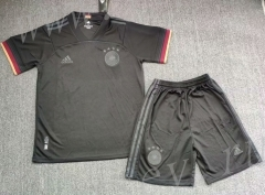 2021-2022 Germany Away Black Soccer Uniform-718