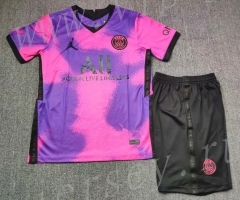 2021-2022 Jordan Paris SG 3rd Away Purple Soccer Uniform-718