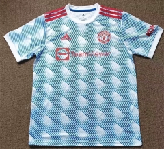 2021-2022 Manchester United Away Light Blue Thailand Soccer jersey AAA-417