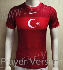 Player version 2021-2022 Turkey Home Red Thailand Soccer Jersey AAA-807