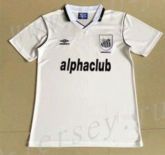 Retro Version 2001 Santos FC Home White Thailand Soccer Jersey AAA-709