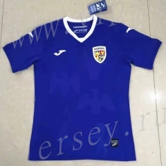 2021-2022 Romania Away Blue Thailand Soccer Jersey AAA-709