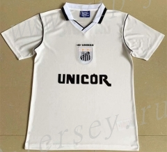 Retro Version 1999 Santos FC Home White Thailand Soccer Jersey AAA-709