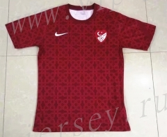 2021-2022 Turkey Red Thailand Soccer Training Jersey-709