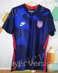 Player version 2021-2022 USA Away Blue Thailand Soccer Jersey-807