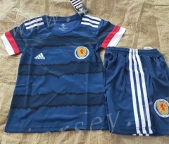2021-2022 England Royal Blue Kids/Youth Soccer Uniform-7T